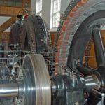 Generator aksel med remskive